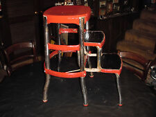VINTAGE KITCHEN STOOL WITH STEPS