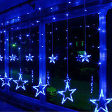 Twinkling Stars Fairy String Lights Lamp for Window Christmas Decor Xmas Blue