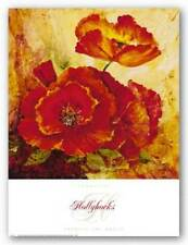 Hollyhocks Angellini Art Print 27x36