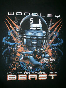LAMARR WOODLEY #56 T SHIRT Animal Beast Pittsburgh Steelers Oakland Raiders