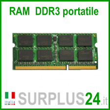 RAM 4GB DDR3 (1x 4GB) LAPTOP PC3-10600S 1333Mhz SODIMM Notebook Portatile No Ecc