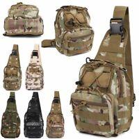 New Men Backpack Molle Tactical Sling Chest Pack Shoulder Bag Outdoor Hiking Bag