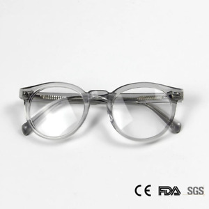 Gregory Peck Style Eyeglasses Retro Solid Acetate Crystal Round Frames Glasses
