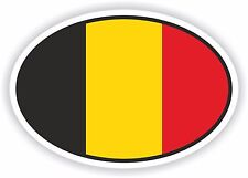 BELGIUM Oval Bumper Sticker or Helmet Sticker D2147 Country Euro Oval