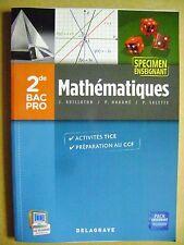 Livre Mathématiques BAC PRO 2de   Spécimen enseignant /U16