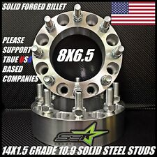 8X6.5 TO 8X6.5 WHEEL SPACERS ADAPTERS 2 INCH | FITS MOST 8 LUG CHEVY GMC 14X1.5