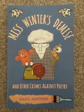 SIGNED MISS WINTER'S DEMISE by Paul Minton PBK Children's Verse Poems Rhymes