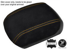 YELLOW STITCHING REAL SUEDE ARMREST COVER FITS HOLDEN CRUZE JG JH 2011-2016