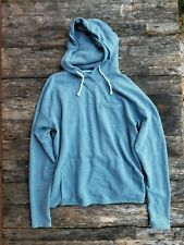 AMBSN large light blue shawl neck hoodie made in California USA