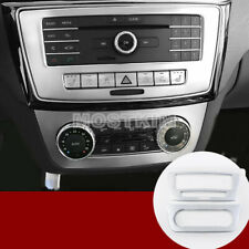 Interior Console CD & AC Panel Cover 2pcs For Benz ML W166(12-15)GL X166(13-15)