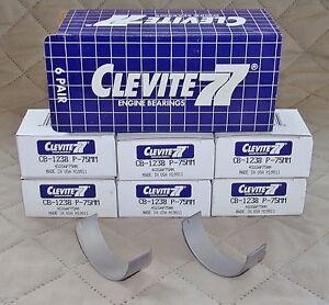 CLEVITE CB1238P .75MM Rod Bearing Set (6) for 1980-2009 CHEVROLET 2.8, 3.1, 3.4