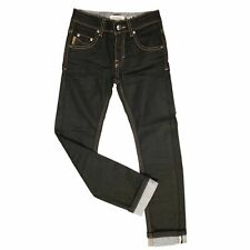 C - Pantalon Jean Noir  Tartan Beige Slim Fit  B24495 Burberry Taille 14 ans