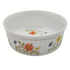 """Country Flowers by Andrea Oven to Table Cookware Casserole Dish 7 1/2""""  Bowl"""