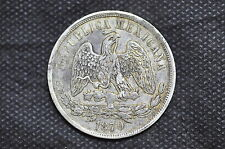 Mexico - Republic 1870 Mo C UN PESO Silver Coin ( Weight : 26.91 g ) C91