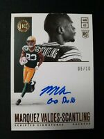 2018 Panini ENCASED MARQUEZ VALDES-SCANTLING ROOKIE AUTO GOLD #/10 PACKERS RC