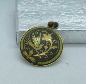 Vintage Japanese Damascene Pendant