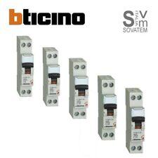 Interruttore magnetotermico BTICINO serie FC881 1P+N da 6-10-16-20-25A 4,5Ka