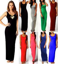 New Women Ladies Casual Day Maxi Dress Bodycon Pencil Long Skirt PLUS 812141620
