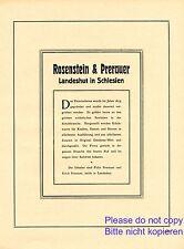 Shoes Rosenstein & prerauer landeshut Advertising 1923 Silesia kamienna Gora +