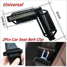 2Pcs Black Car Seat Belt Clips Adjuster Strap No Neck Shoulder Tension Seatbelt