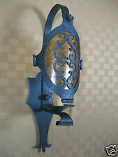 spanish wrought iron scroll shield sconce LS5