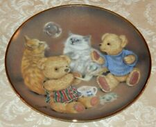 Franklin Mint Bubble Buddies Collectors Plate Cats & Teddy Bears by Sue Willis