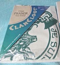 NIP Scot 'CLAN CLOOT' FRASER LOVAT TEA TOWEL history Orig£16/$24 ALBANACHS! #2
