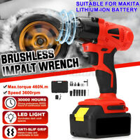 88VF Electric Brushless Cordless Impact Wrench Drilling 1/2'' For Makita Battery