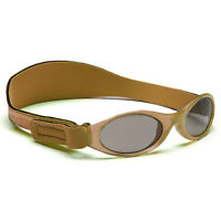 Childs Sunglasses Kidz Banz Adjustable Boys Retro Brown Adventure Strap
