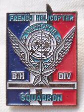 Pins Acros Unprofor Francesa Helicóptero Squadron Bih Div Un ONU Original Retro