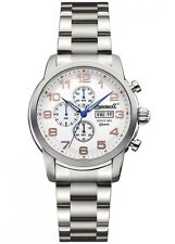 Mens Ingersoll Mount INQ018WHSL Polished Steel Bracelet White Chronograph Watch