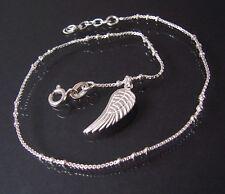Pulsera de tobillo collar cadena Veneciana plata 925 24-26cm Perlas colgante