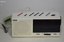 Radiosveglia vintage Loewe  SU 200 DUAL CLOCK RADIO design anni'80'90 Bianco-0PH