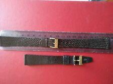 NOS Vintage Genuine Lizard Bulova watch band strap 19mm