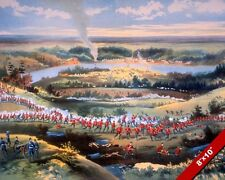 BATTLE OF BATOCHE PAINTING METIS REBELS VS CANADA WAR ART REAL CANVAS PRINT