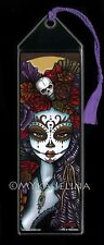 Dalia Dia De Muertos Mictecacihuatl Rainbow Sugar Skull BOOKMARK Myka Jelina Art