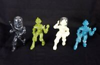 Lot of 4 VTG Ajax Archer Spacemen Plastic Figures Figurines 1950s 2 w/ Helmets