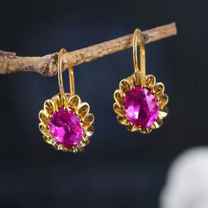 925 Silver Cubic Zirconia Ear Hook Drop Dangle Earrings Anniversary Jewelry Gift