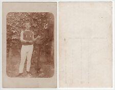 Giovane sollevatore peso, forza SPORT, sporty volte culturismo RPPC c.1915 GAY INT