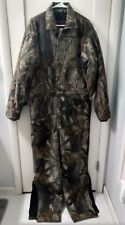 Walls Black Duck Hunting Coveralls Realtree Camo Quilt Lined Men Med Tall