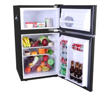 Compact 2 Door Retro Mini Fridge Freezer 3.2 Cu ft Basement Patio Refrigerator
