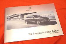 "2014 Porsche Cayenne ""Platinum Edition"" folleto Brochure - 12/2013 English"
