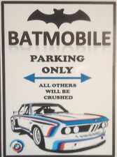 "BMW 'Batmobile' Parking Only Sticker(5"" X 4"" Approx) BMW E9"
