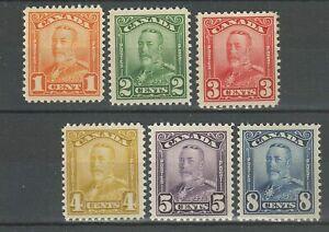 Canada 1928 ☀ King George V - SG275/280 ☀ MLH set