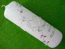 Hochzeitskerze 200//70mm Lila//Silber Absolut Edel H072