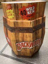 Backwoods Wild Rum Display Storage Collectors Barrel(Empty)