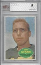 1960 Topps football card #51 Bart Starr, Green Bay Packers graded BVG 6 EXMT