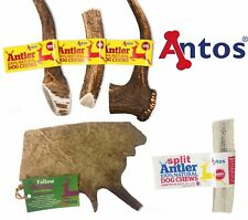 Antos Deer Antler Dog Puppy Tough Natural Treat Chew Whole Split Stag Antlers