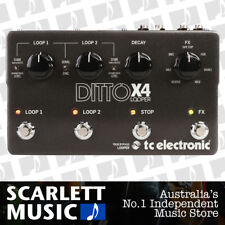 TC Electronic Ditto X4 Guitar Looper Effects FX Pedal W/ Midi Sync **