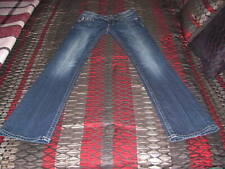 Miss Me 28 Women's Jeans Boot Cut Embellished Flap Pockets Metallic Stitch MINT